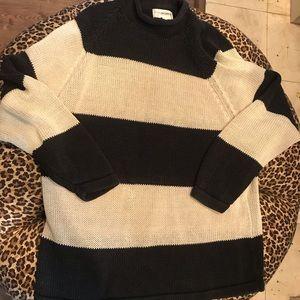 Chunky Yarnworks striped black and cream M sweater